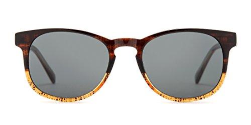 TIJN Two-tone Acetate Wayfarer Keyhole Frame - Shopping Sunglasses Online Wayfarer