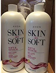 Avon skin so soft Soft & Sensual Body lotion for dry skin 33.8 fl.oz. lot 2 bottles (Avon Skin So Soft Soft And Sensual)