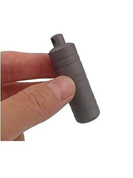 QIKC Mini c/ápsula de titanio encendedor de aceite llavero Lightercamping iniciador de fuego supervivencia encendedor herramienta Edc Color : Gray
