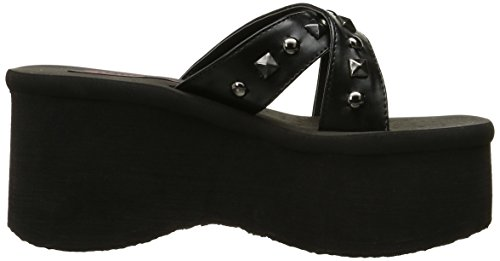 Demonia FUNN-29 Blk Vegan Leather Size UK 4 EU 37