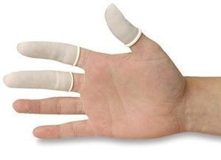200 pi/èces de doigtiers en Latex gardant votre pansement sec et propre rev/êtements de protection anti-statiques en caoutchouc