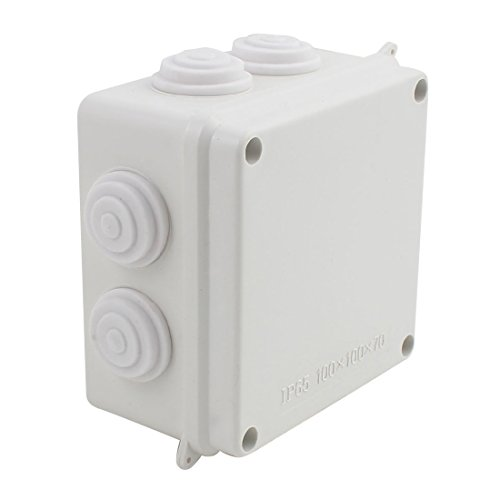 Junction Box Underwater (YXQ 100mmx100mmx70mm IP65 Waterproof Junction Box Electric Project Case Enclosure-Square with Holes(4'' x 4'' x 2.8''))