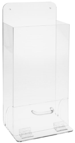 Brady MVSD 18'' Height, 8'' Width, 4'' Depth, Tough Acrylic, Black And White On Clear Color Deluxe Visitor Spec Dispenser, Legend ''Safety Glasses'' by Brady