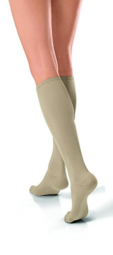 JOBST Travel Compression Socks, 15-20 mmHg, Knee High, Size 5, Beige