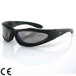 Bobster Low Rider II Sunglasses - One size fits most/Black w/ Clear