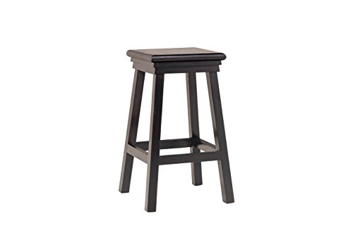 India Covers Solid Wood Bar Stool (Ebony Finish, Brown)