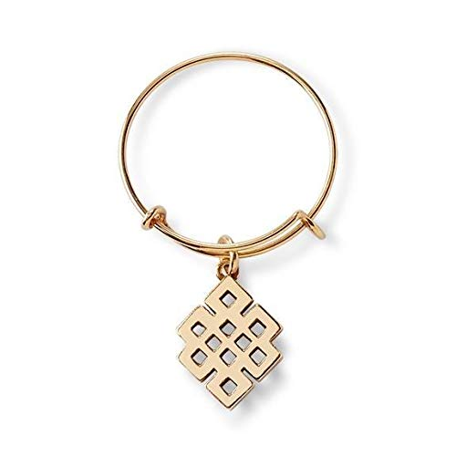 - Alex and Ani Endless Knot Expandable Wire Ring - Gold Plated