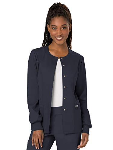 Cherokee Women's Snap Front Warm-up Jacket, Pewter, XXXXX-Large