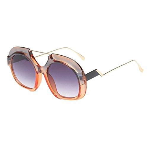 Gafas Irregular Hunpta A con Sol D para Redondo Diseño Marco de Mujer xRq7TqwYd