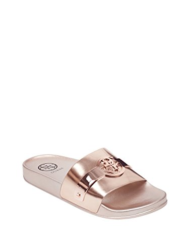 Guess Women's Softly Slide Sandal, Rose Gold, 7 M US from Guess
