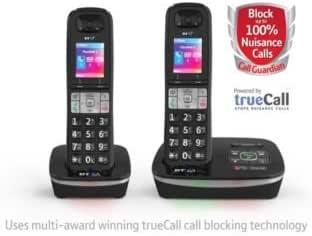 8500 – Teléfono inalámbrico con contestador automático – doble (225889600): Amazon.es: Jardín