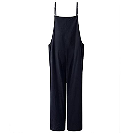 11844a47795 Amazon.com  easter Jumpsuits for Women Long Suspender Twin Side Bib Wide Leg  Overalls Pants Large Size  Clothing