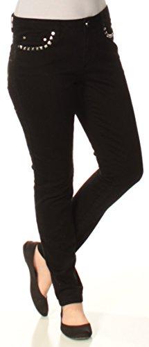 Michael Kors Izzy Studded Skinny Jeans (Black, (Flare Studded Jeans)