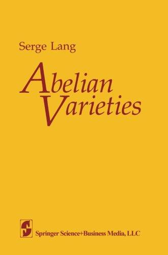 Abelian Varieties -