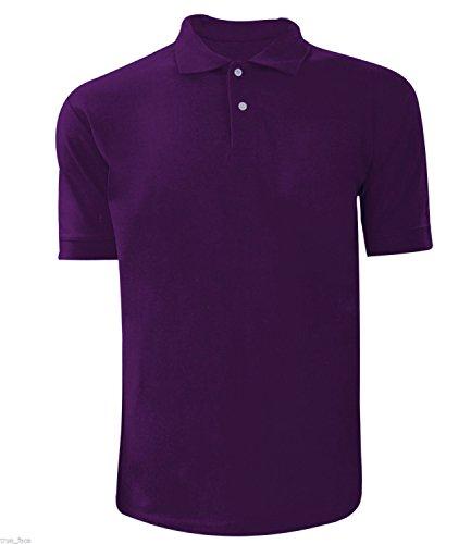 Men Plain Polo T-shirt Purple XX