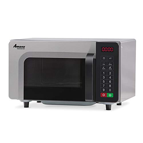 Amana Commercial Microwave Oven, countertop, 0.8 cu ft, 1000 watts, 4-stage cooking | Braille