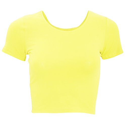 9290d9f8dc3a32 Amazon.com: American Apparel Womens/Ladies Plain Cropped Short Sleeve T- Shirt: Clothing