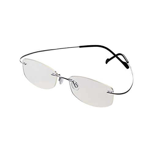 Titanium Machines Micro (ELECOM Ultra light Blue Light cut glasses titanium M size clear lens G-BUC-L01MSV (Japan Import))