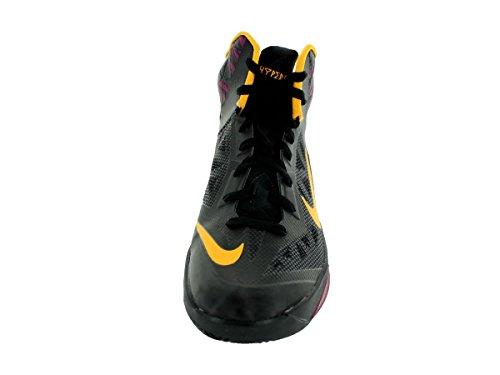 Nike Mens Zoom Hyperfuse 2013 Nero / Laser Arancio / Rspbrry Rosso Scarpa Da Basket 11.5 Uomini Noi