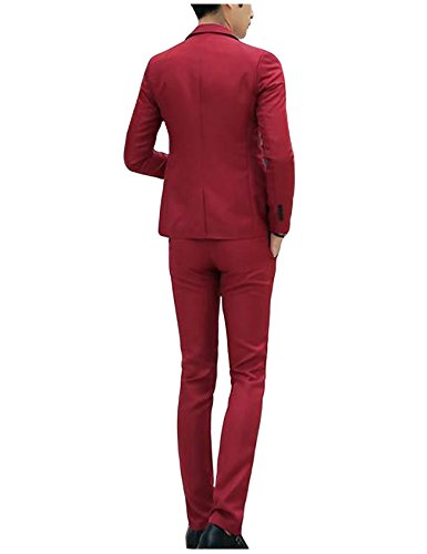 De Blanc Letuwj Homme Pantalon Blazer Confortable Costume annXwq18