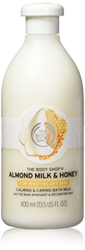 The Body Shop Almond Milk & Honey Bath Milk, for Sensitive, Dry Skin, 13.5 fl. oz.