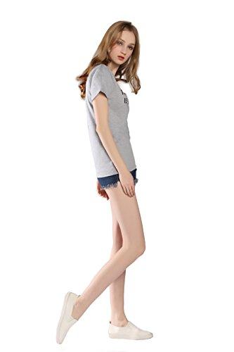 Capucha And shirt Camiseta T Cat Tees Mujer Graphic Tops The Mujers Sin Pinjia Future Grey Para Sudaderas wTvqOx