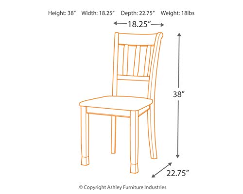 home, kitchen, furniture, kitchen, dining room furniture,  chairs 3 discount Ashley Furniture Signature Design - Owingsville Dining Room Side in USA