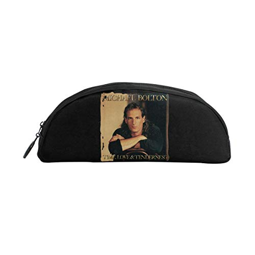 (Michael Bolton Time Love & Tenderness Large Capacity Canvas Pencil Case Pen Bag Pouch Stationary Case Makeup Cosmetic)