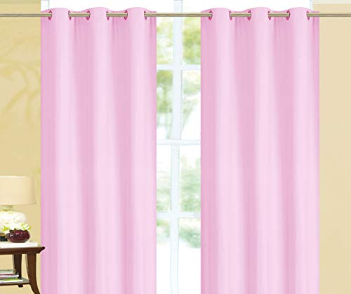 Empire Home 100% Solid Blackout Window Curtain Set of Two Sale!! (Rose, 84