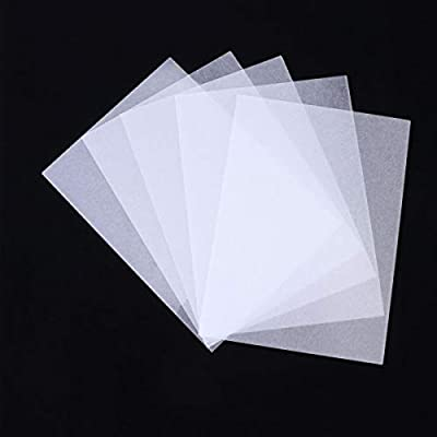 SUPVOX Printable Translucent White Shrink Art Papers for Kids Plain Shrink Sheets Art Craft Supply DIY Drawing Project for Classroom Teachers Students 20 Sheets