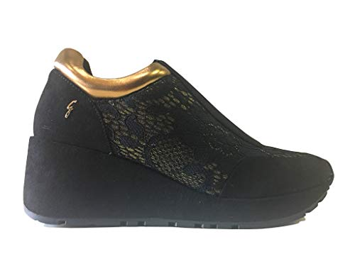 Gattinoni Black Sneaker Logo Mini gold Con UzYZq