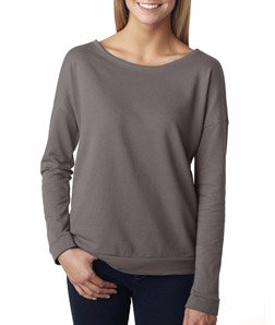 Next Level Apparel 6931 Lady The Terry Long-Sleeve Scoop - Warm Gray, Medium