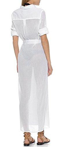 Parei Up Copricostumi Spiaggia Donna Bianco Camicia Da Cover Bikini Bagno Costume Per peach Abito L qwBSnaSX