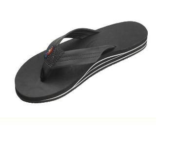 Rainbow Sandals Women's Double Layer Arch Sandals,Black,X-Large (Rainbow Sandals Nylon)