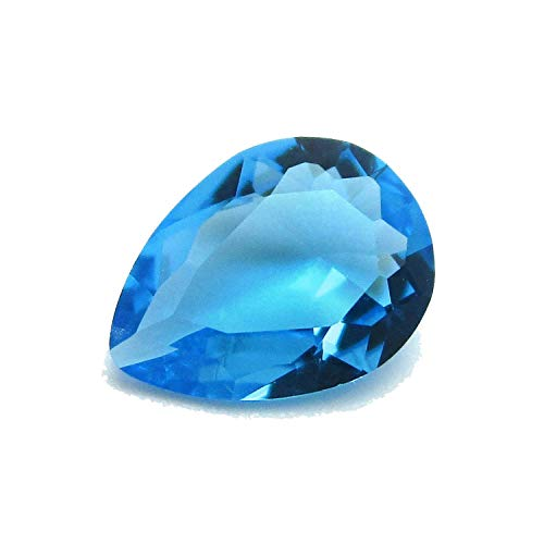 50pcs/Lot Various Color Loose Glass Stone Pear Shape Machine Cut Glass Synthetic Gemstone for Jewelry,Aquamarine,3x4mm(50pcs) from FOREVER SMILE