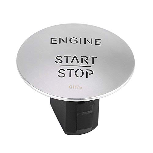 Qiilu Keyless Go Start Stop Push Button Engine Ignition Switch Mercedes-Benz ML,GL,R,S,E,C Class 2215450714,CL550,ML350,GLK350,E350,S550,B180,C180,C200,C300,E200, Infiniti QX30 Q30 &More Silver (2014 Mercedes Benz Gl Class Gl450 Suv)