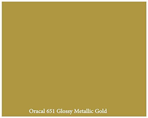 metallic-gold-glossy-12-x-10-foot-roll-of-oracal-651-permanent-adhesive-backed-vinyl-for-craft-cutte