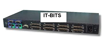 DELL 582RR 16 PORT KVM MONITOR MOUSE KEYBOARD SWITCH SYSTEM BY IT BITS