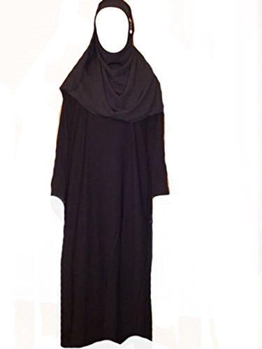 Desert Dress Black Burqa Afghan Jilbab Abaya Hijab Islam Niqab Dress Arab Size 52