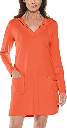 Coolibar UPF 50+ Women's Beach Cover-Up Dress - Sun Protective (3X- Sunset -