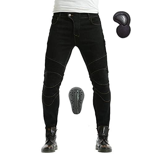 BEDSETS Herren Motorradhose Motorrad Jeans,Sportliche Motorrad Hose Mit Protektoren Motorradhose mit Oberschenkeltaschen…