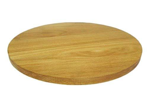 60 cm 24 Zoll Wooden World Rundes Pizza-Brett rund Holzteller Schneidebrett Schneidebrett Pizza Massivholz