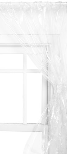 Carnation Home Fashions Vinyl Bathroom Window Curtain, Super Clear (Window Shower Liner compare prices)