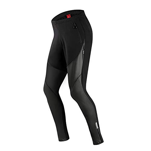 Santic Cycling Trousers Mens Baggy Cycling Pants Winter Thermal Mountain Bike Trousers Warmer with Fleece inside…