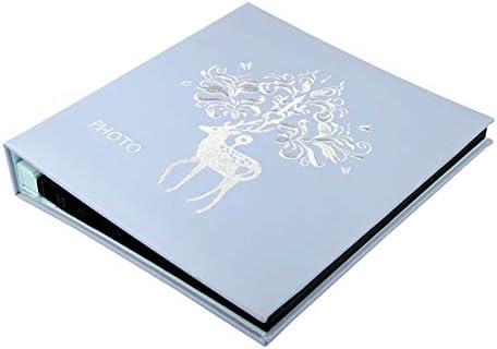 360の6インチの写真のための革写真画像アルバム古典的なデザインの混合スリップ - 青