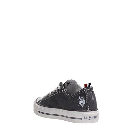 Scarpe Sneakers Canvas Uomo Donna US Polo Colore Grigio Stile Converse (39)