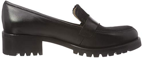 po loafers black ne Indore Unisa Noir Black Femme Mocassins xwa1EEFI