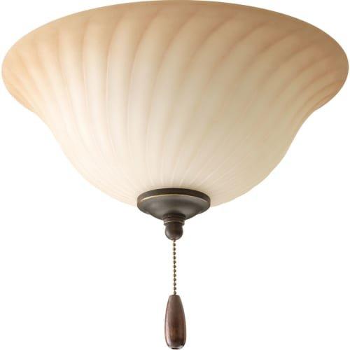 Progress Lighting P2656-77 Kensington Fan Light Kit with Frosted Caramel Swirl Glass Bowl - Progress Lighting Fan Kit