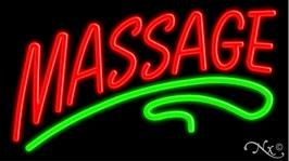 Massage Neon Sign - 18'' x 32'' by American Sign Letters