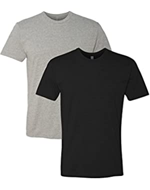 N6210 T-Shirt, Dark Heather Gray + Black (2 Pack), Large